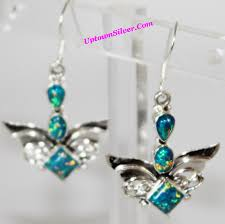 green opal earrings usa wse118938 shop our selection of artisan angel wings green