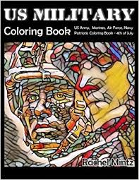 amazon military coloring book army marines air force