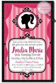 vintage pink barbie birthday invitations di 669 harrison