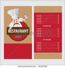 restaurant menu card design template stock vector 231167599