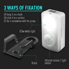 portable multifunctional battery operated led motion sensor night