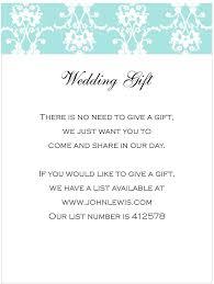 wedding gift registry wording how to word gift registry on wedding invite yourweek 41658beca25e