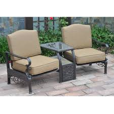 Tete A Tete Garden Furniture by Sunjoy Orchard Lake Tete A Tete Outdoor Living Patio Furniture