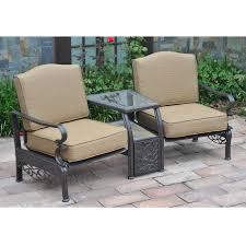 Tete A Tete Garden Furniture by Sunjoy Orchard Lake Tete A Tete Outdoor Living Patio Furniture