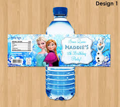frozen bottle labels disney frozen water bottle labels