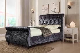 king size bed frame crushed velvet bedding ideas