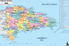 A Map Of The Caribbean Administrative Map Of Dominican Republic Nations Online Project