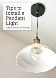 How To Replace A Light Fixture How To Install A Hanging Light Fixture Light Fixtures