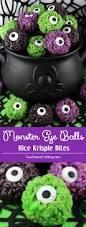 halloween cake pops eyeballs monster eye balls rice krispie bites two sisters crafting