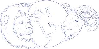drawing sketch style illustration of a ram head looking to the