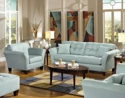 Pennie Sofa Light Blue Fabric Modern Sofa U0026 Loveseat Set W Wood Legs For The