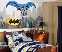 Batman Bedroom Set Super Hero Batman Interior Bedroom Decor Super - Batman bedroom decorating ideas