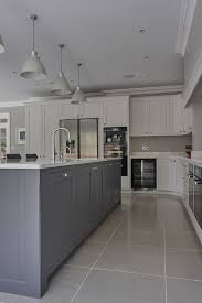 shaker kitchen island the kitchen island in the middle and the color tone grayish