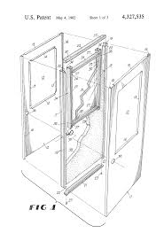 patent us4327535 door with glass panel google patents