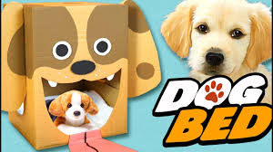 diy dog bed cardboard craft ideas for kids box yourself youtube