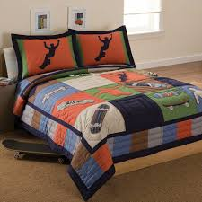 bedroom twin bedding sets for boy orange and blue bedding twin