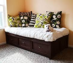 Building A Platform Bed With Storage Drawers by Ana White Daybed With Storage Trundle Drawers Diy Projects