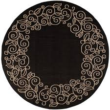Damask Round Rug Plaid Outdoor Rugs Rugs The Home Depot