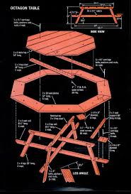 Free Hexagon Picnic Table Plans by Hexagonal Picnic Table Plan From Popular Mechanics Free