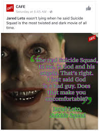 quote jared leto this joker quote from the squad imgur