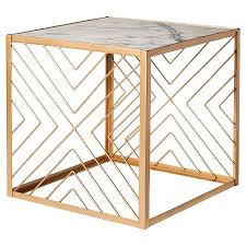 marble side table target nate berkus square gold accent table with marble top target don