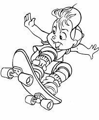 menino andar skate coloring pages digi stamps