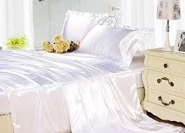 White Silk Bedding Sets Silk Sheets Bedding Set White Silk Satin King Size