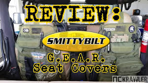tactical jeep seat covers smittybilt g e a r seat cover review youtube