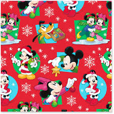 mickey wrapping paper disney mickey and minnie on christmas wrapping paper roll 30
