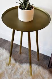 Modern End Tables Retro Mid Century Modern End Table Antiqued And Polished Brass