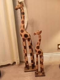 wooden giraffe ornaments in bournemouth dorset gumtree