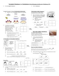 worksheet multiple allele crosses