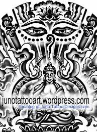 sitting budha tattoo detail by juno tattoo designer jpg