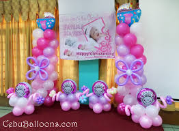 Centerpieces For Baptism Pink U0026 Purple Cebu Balloons And Party Supplies
