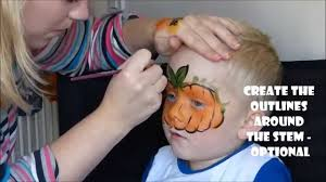 how to face paint a pumpkin halloween face painting designs