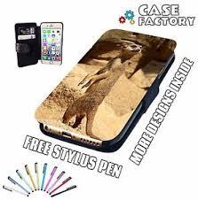 Phone Case Meme - meerkat chilling in the wild meme mobile leather flip wallet phone