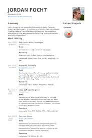 Css Resume Web Application Developer Resume Samples Visualcv Resume Samples