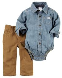 boys light blue dress pants complete with classic canvas pants and a chambray button front