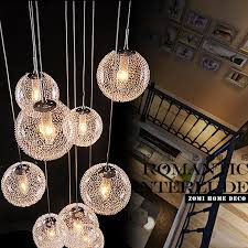 Glass Ceiling Pendant Light Modern Chandeliers Globe Glass Ceiling L With 10 Balls Led