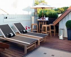 Wooden Outdoor Chaise Lounge Chairs Wood Patio Chaise Lounge Chairs At Roof Deck Patio Design Ideas