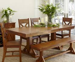 dining room solid wood dining table and bench seats beautiful