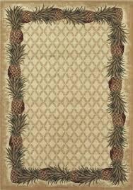 Shaw Area Rugs Kathy Ireland Home Aloha Pineapple 101000 Ivory Closeout Area Rug