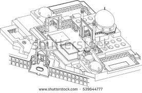 isfahan mosque iran site plan vector stock vector 539644777