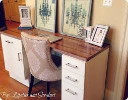 Pottery Barn Whitney Desk Diy Desk From Cabinets And Flooring