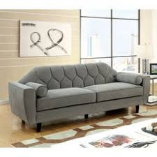 Sofa Outlet Store Christies Home Living Juliet Small Chesterfield Tufted Beige Linen