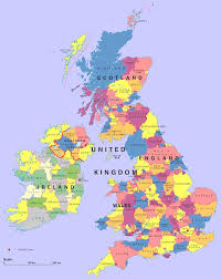 map of uk map uk ireland major tourist attractions maps