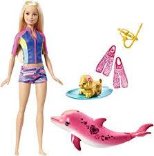 amazon barbie dolphin magic transforming mermaid doll toys