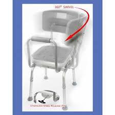 shower chair swivel padded seat bench adjustable bath seat