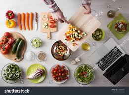 Cooking Board by Mans Hands Cooking Home Chopping Fresh Stock Photo 276802610