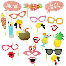 photo booth supplies 21pcs hawaii themed summer party photo booth props kit diy luau